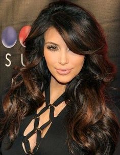 dark brown hair with copper highlights | ... dark brown, almost black, with milk chocolate highlights is quiet