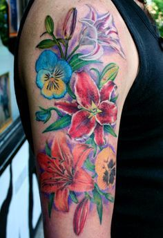 pansy tattoos - Google Search