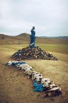 Mongolia. Ovoo