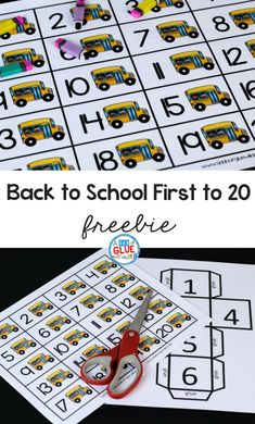 Your students are going to LOVE this Back to School First to 20 game! Perfect for your math center in your PreK, Kindergarten, or First Grade classroom.