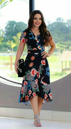 Image may contain: 1 person, standing Elegant Dresses Classy, Dressy Dresses, Simple Dresses, Cute Dresses, Beautiful Dresses, Summer Dresses, Women's Fashion Dresses, Dress Outfits, Tango Dress