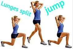 Lunges split jump training... Hop Step Jump!
