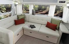 Airstream International Serenity 30 interior in Mint Green.