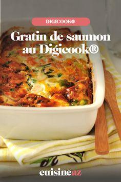 Le gratin de saumon au Digicook® est un plat parfait pour se réchauffer.  #recette#cuisine#gratin#saumon #plat #robotculinaire #digicook 20 Min, Parfait, Robot, Meat, Chicken, Gourmet, Cooking Recipes, Healthy Meals, Ideal Home