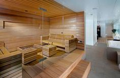 Sauna - done well Sauna Steam Room, Sauna Room, Design Sauna, Design Design, House Design, Interior Design, Modern Saunas, Sauna Hammam, Sauna Shower