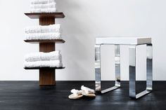 Nice for bathroom or shower: WETSTYLE_Cube_Stool on www.CourtneyPrice.com