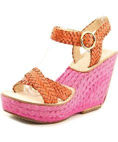 DIANE VON FURSTENBERG Diane Von Furstenberg Origenes Women  Open Toe Leather Pink Wedge Sandal'. #dianevonfurstenberg #shoes #pumps & high heels