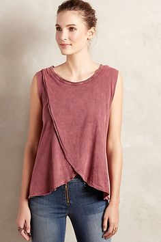 Crossover Tank #anthropologie - love the swing detail