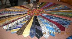 A bed quilt. #mens #ties. I want one