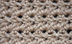 Hdc Cluster Stitch Pattern: 1st Row (RS): Working in BLO, sc in 1st st. *Ch 1, skip next st, and sc in next st. Repeat from * to end. Ch 2 a...