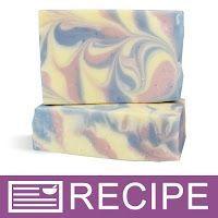 Rose Quartz & Serenity Blue Column Swirl CP Soap