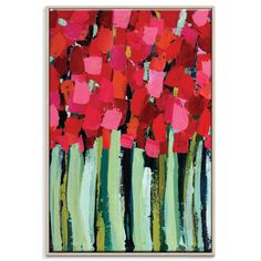 Anna Blatman | Fire Reds | Framed Canvas by Anna Blatman by Artist Lane on THEHOME.COM.AU