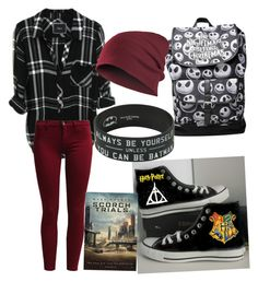 """Geeky Little Me"" by laciponcho ❤ liked on Polyvore featuring Converse and Sisley"