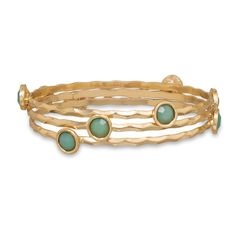 Set of 3 Mint Green Fashion Bangle Bracelets