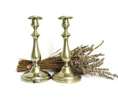1870s Vintage Candlestick Holder Antique Set 2 Berndorf Metalware Factory BMF Metal Candle Holder Alpacca Nickel Silver Plated Collecibles by WoodHistory on Etsy