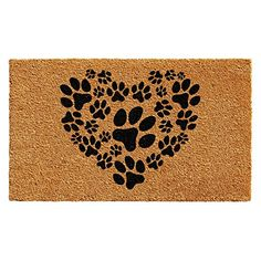 The Calloway Mills Heart Paws Coir Door Mat greets guests with the love any furry friend would shower you at home. Perfect by entryways, the coir construction scrapes shoe bottoms and paws clean to help keep dirt and grime from entering your home. Coir Doormat, Clean Shoes, Mold And Mildew, Stores, Baby Clothes Shops, Eyeshadow Makeup, Rug Size, Size 2, House Warming