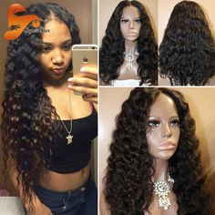 Brazilian Virgin Hair Full Lace Human Hair Wigs For Black Women Deep Wave Lace Front Wig Glueless Full Lace Wigs With Baby Hair