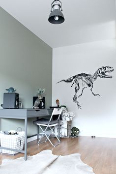 Dinosaur boys room, study desk