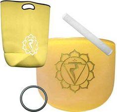 8 Yellow Chakra Crystal Singing Bowl