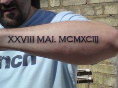 roman numeral forearm tattoo - Google Search