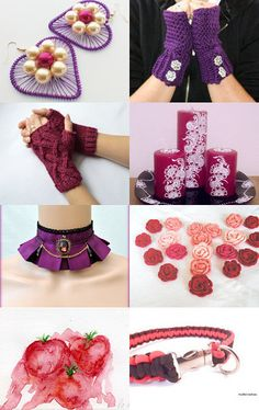 Purple, pink and red finds by Verofibre on Etsy--Pinned+with+TreasuryPin.com