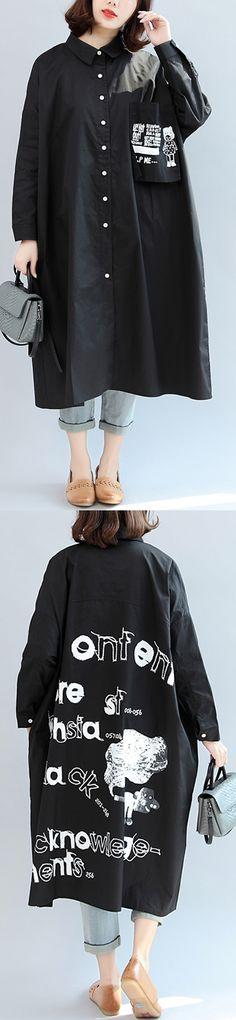 2017 black animal print cotton tops oversize stylish blouse o neck shirt dress