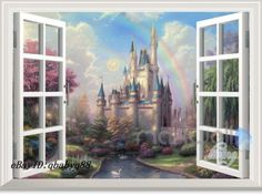 Disney-Tinkerbell-Fairy-Castle-3D-Window-Wall-Decal-Removable-Sticker-Kids-Decor