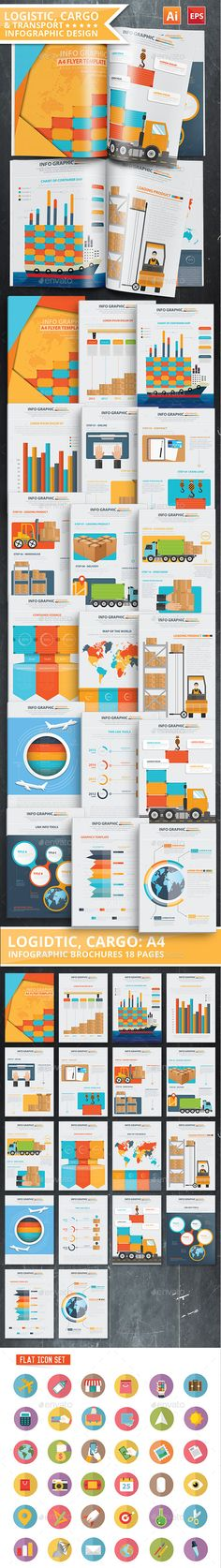 Logistic & Transport Infographic Design 18 Pages Template Vector EPS, AI #design Download: http://graphicriver.net/item/logistic-transport-infographic-design-18-pages/13235226?ref=ksioks