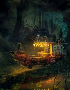 The Boat by randis~Steampunk Love •❀• From Airship Commander HG Havisham