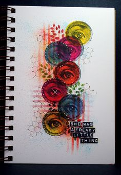 Eileen's Crafty Zone: Wendy Vecchi Stamps,Stencils and New Archival Inks = A Page in my Art Journal.