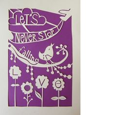 Personalised Bespoke Papercut £28.00 from CecilyMae Handmade
