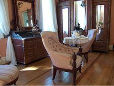 Osmar do Prado e Silva (Pu3yka) Pelotas - Bairros - Areal - Museu da Baronesa Wingback Chair, Accent Chairs, Furniture, Home Decor, Museum, Upholstered Chairs, Wingback Chairs, Interior Design, Home Interior Design