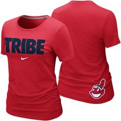 Nike Cleveland Indians Ladies Tribe Local Premium T-Shirt - Red 79dcb496e9