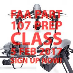 """First Part 107 Prep Class of 2017 — Aloha,   Drone Services Hawaii is offering its first Part 107 Prep Class for Commercial Operations. We provide all training materials and the class is taught by a certified flight instructor. Lunch is also provided. We will also cover information for """"How to"""" conduct commercial operations under the new Part 107 rules.  Sign up today!"""
