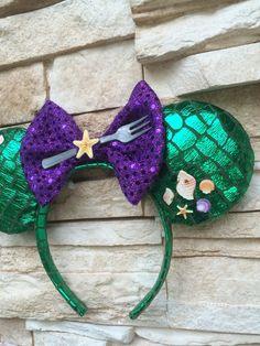 The Little Mermaid Ariel Mickey Ears by FlowerChildGoods on Etsy