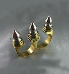 Jungle Tribe Triple Spike Brass Knuckle Ring | Delicious Boutique