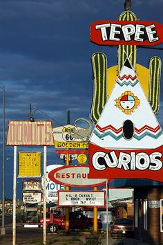 Route 66 signage - Tucumcari, NM---I was lucky to travel on Route 66 in the early 60s