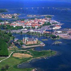 Kalmar slott med Ölandsbron;    castelo de Kalmar .