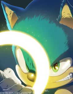 Sonic is really cool in this picture!