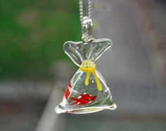 Fish in a Bag Necklace