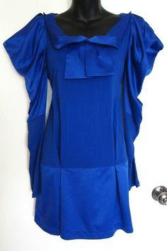 Bread N Butter Modcloth EGL Urban Royal Blue Silk Sailor Moon Cosplay Dress s 1 | eBay $14.99