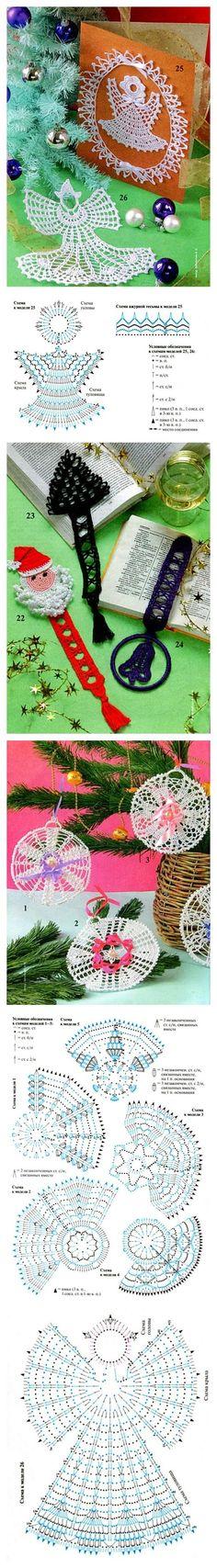 Adornos Navidad Crochet Ganchillo