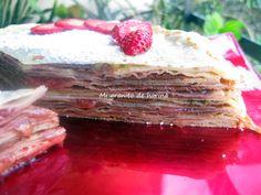 Mi granito de harina: Mille Crepe de chocolate y fresa