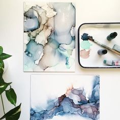 """1,141 Likes, 39 Comments - Ashley Mahlberg (@inkreel) on Instagram: """"Hanging out with a softer color palette today! #onmydesk . . . . . #artflowsessions #artprocess…"""""""