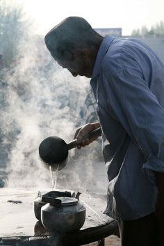 Uyghur Elderly Man Making Tea Kashgar Xinjiang Provence China - Eriagn on Flickr