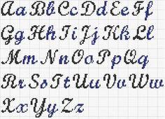 modèle broderie point de croix alphabet 8                                                                                                                                                                                 Plus