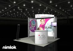 Nimlok specializes in trade show ideas and trade show exhibit design. For IDS, we built a 10x10' trade show booth to meet their marketing needs.