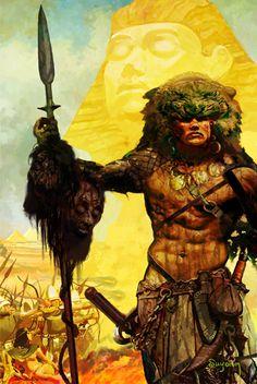17 Best images about Arthur Suydam Medieval, Heavy Metal Art, Sword And Sorcery, Afro Art, Fantasy Warrior, Pulp Art, Manga Characters, Dark Fantasy Art, Barbarian