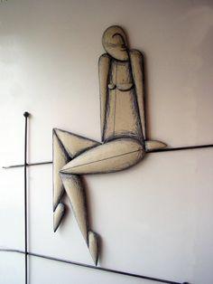 wall sculpture, Anastasaki ceramics