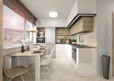 Kitchen Room Design, Modern Kitchen Design, Kitchen Dining, Dining Room, Corner Desk, Sweet Home, Furniture, Home Decor, Kitchen Small